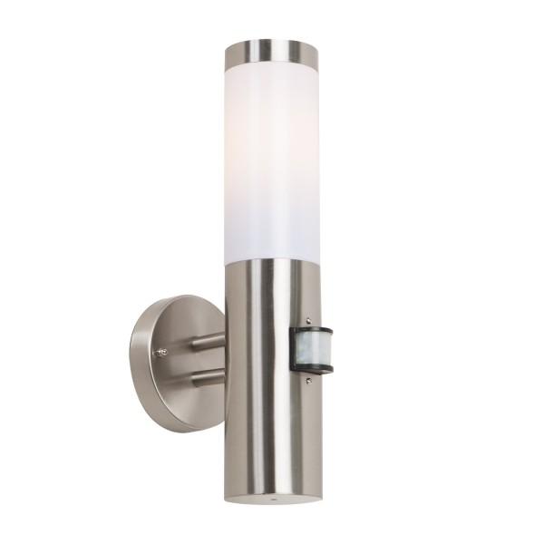 edelstahl wandlampe aussenleuchte mit bewegungsmelder bt1003 up pir wandleuchte ebay. Black Bedroom Furniture Sets. Home Design Ideas