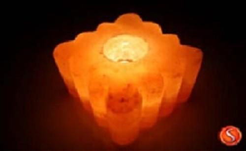 salzkristall teelichthalter kristall bambus salzlampe himalaya salzleuchte 1323. Black Bedroom Furniture Sets. Home Design Ideas