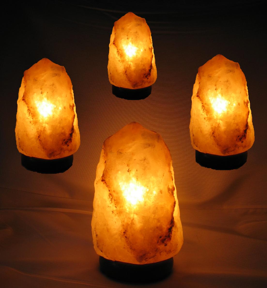 4er set salzkristall lampe leuchte salzlampe himalaya salzleuchte 2 5 3 5 kg 1312. Black Bedroom Furniture Sets. Home Design Ideas